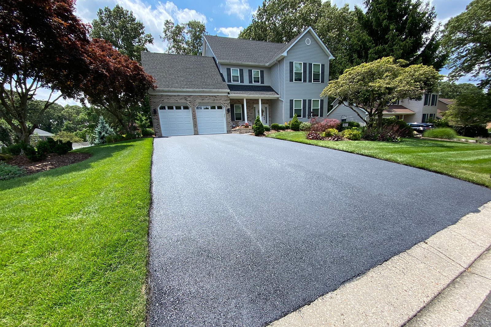 A beautiful driveway adds so much to a home's appearance