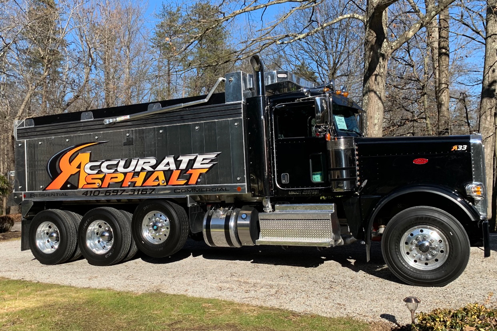 If you see an Accurate Asphalt truck in your neighborhood, say hi!